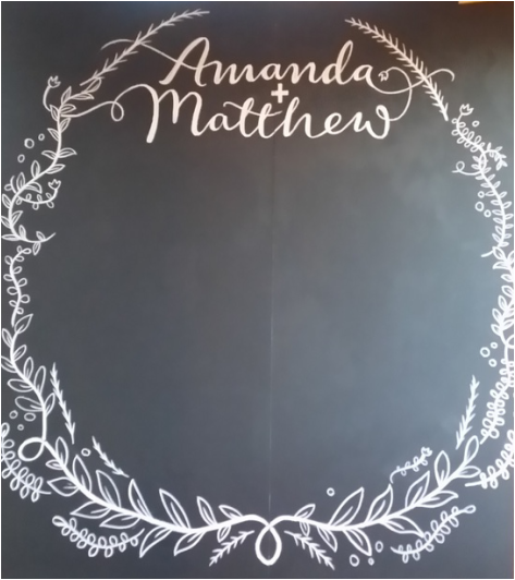 chalkboard wedding adelaide
