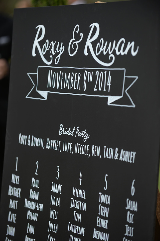 wedding seating plan adelaide chalk